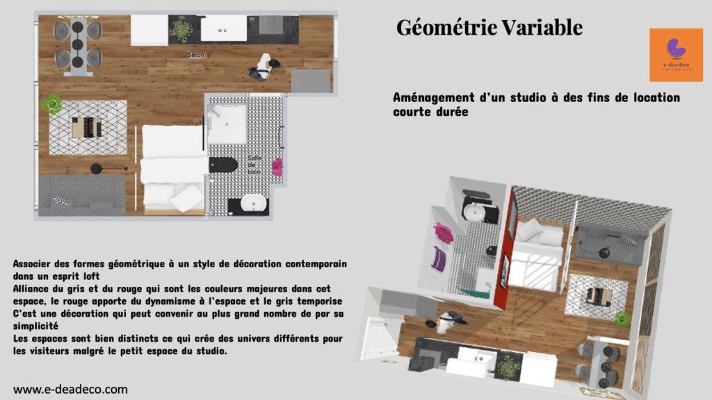 Projet déco Géométrie variable - E- dea déco