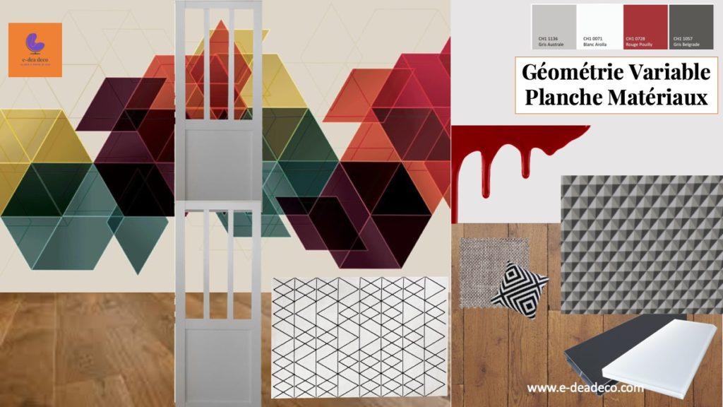 Projet Géométrie variable Matériaux par e-dea déco