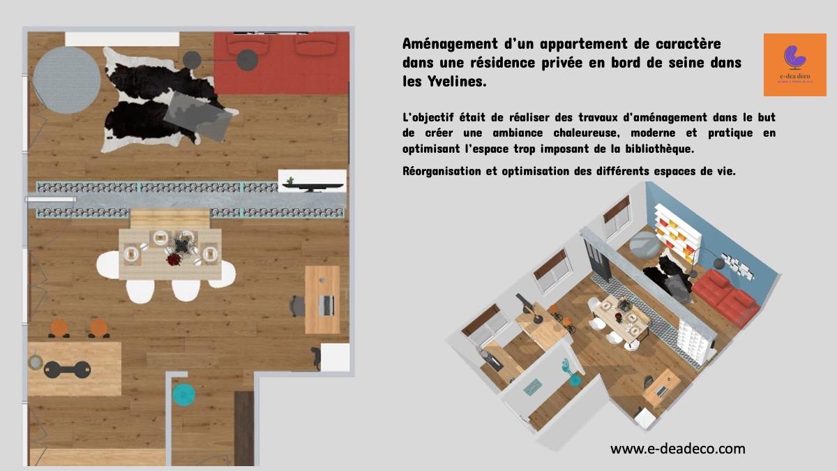 Aménagement d'un salon familial : Projet Yvelines